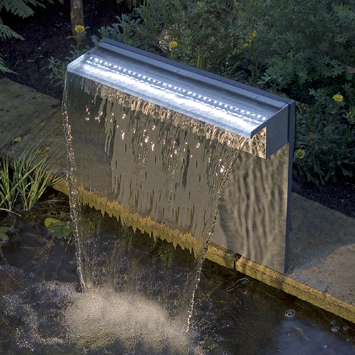 bygga vattenfall i trädgården